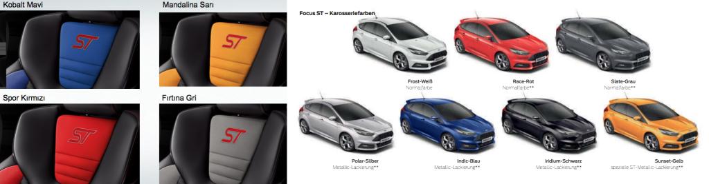 Focus ST Renk Seçenekleri